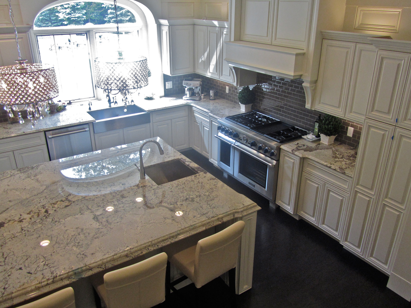 About great lakes granite works natural stone for Engineered quartz countertops